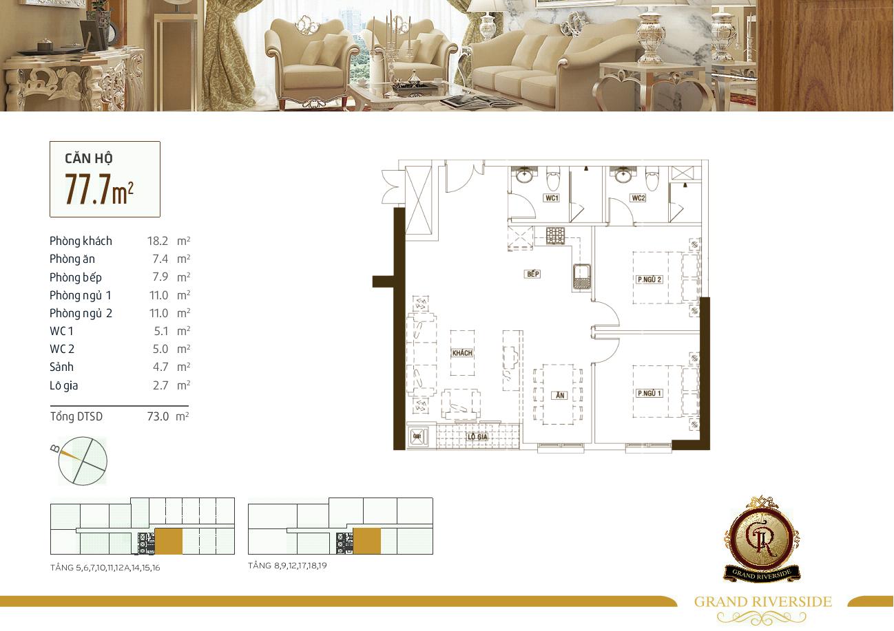dự án căn hộ Grand Riverside bến vấn đồn quận 4