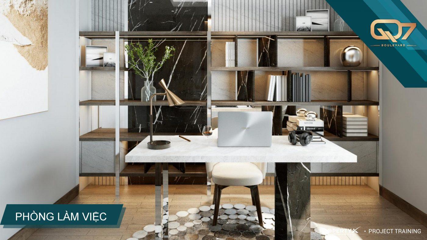 Thiết kế phòng khách Dự án Q7 Boulevard Quận 7
