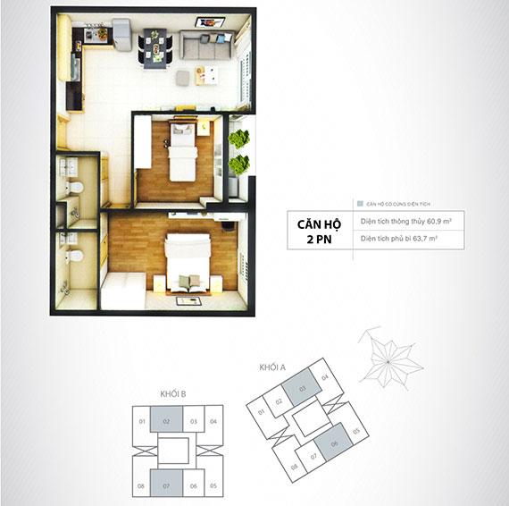 Cho thuê căn hộ chung cư Thủ Thiêm Sky