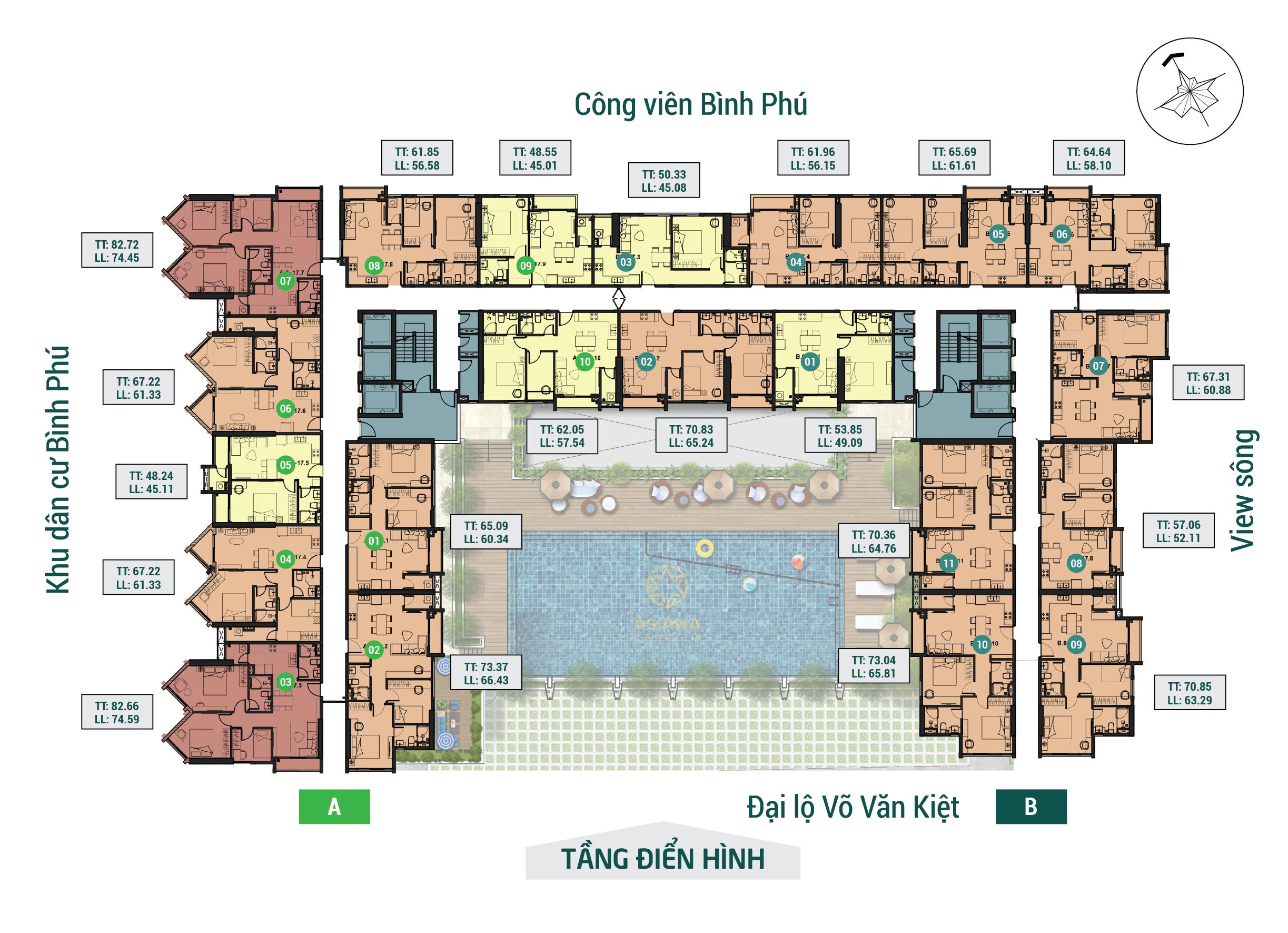Cho thuê căn hộ chung cư Asiana Capella