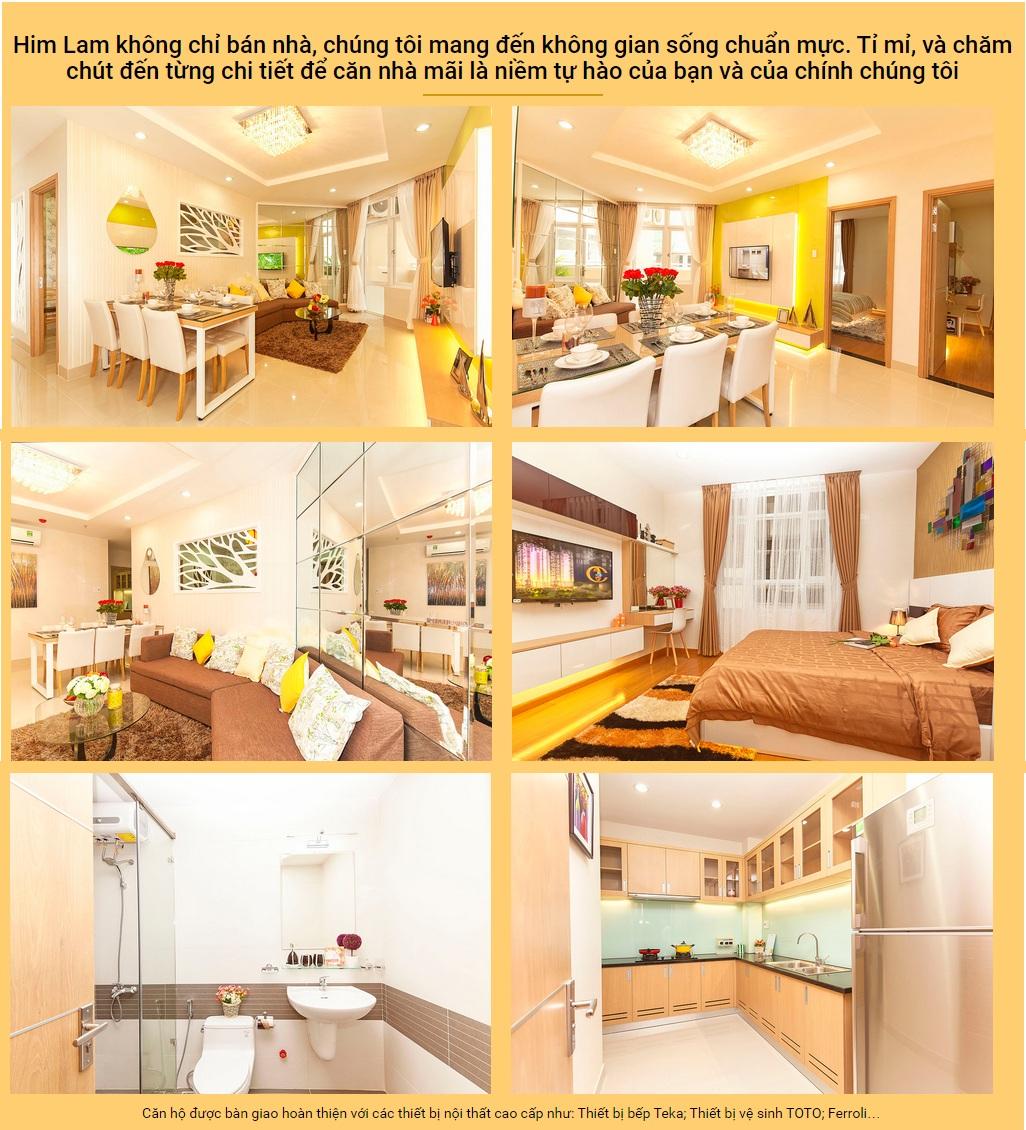 Cho thuê căn hộ chung cư Him Lam Chợ Lớn