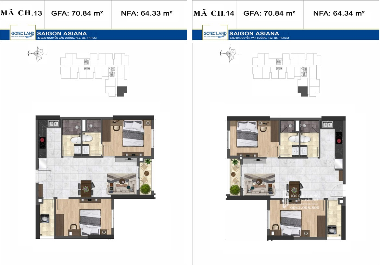 dự án căn hộ Saigon Asiana quận 6