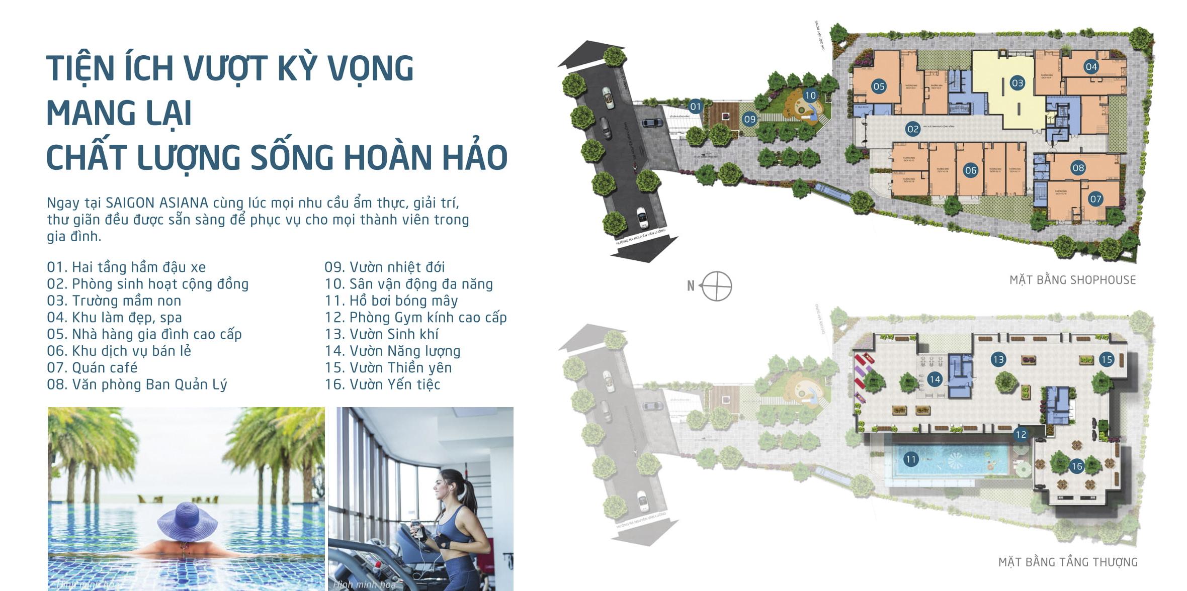 Dự án chung cư Saigon Asiana không gian sống xanh hòa hợp với thiên nhiên