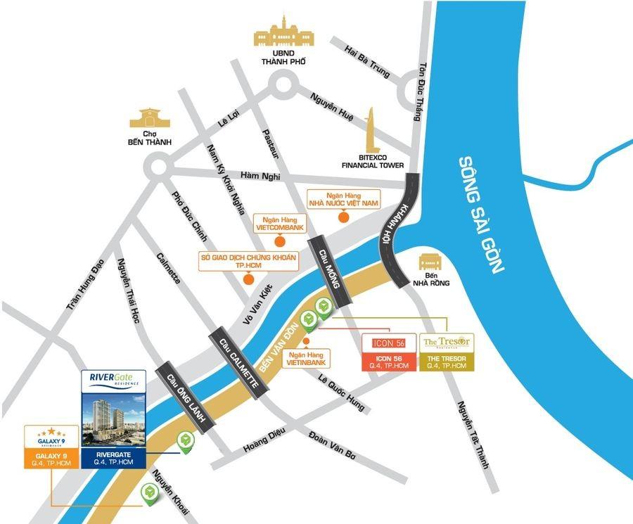 Cho thuê căn hộ chung cư River Gate