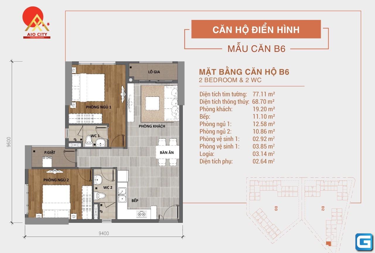 Khu chung cư hạng sang Aio City – khu đô thị sinh thái hàng đầu tại cửa ngõ Tây Nam