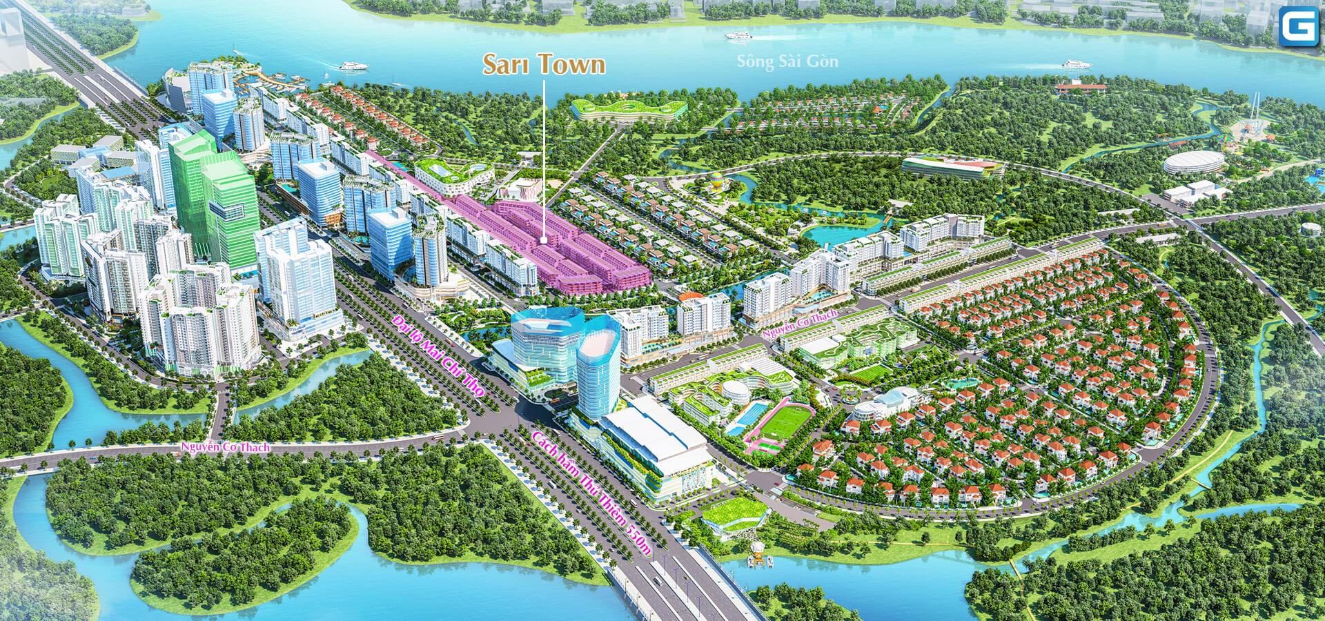 Nhà phố Sari Town Sala