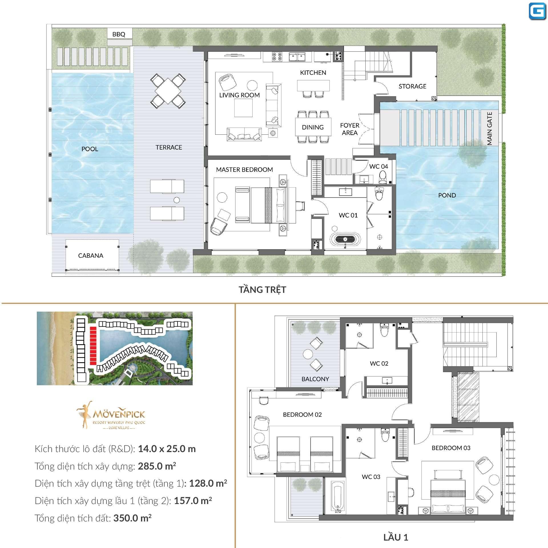 dự án Movenpick Resort Waverly Phú Quốc