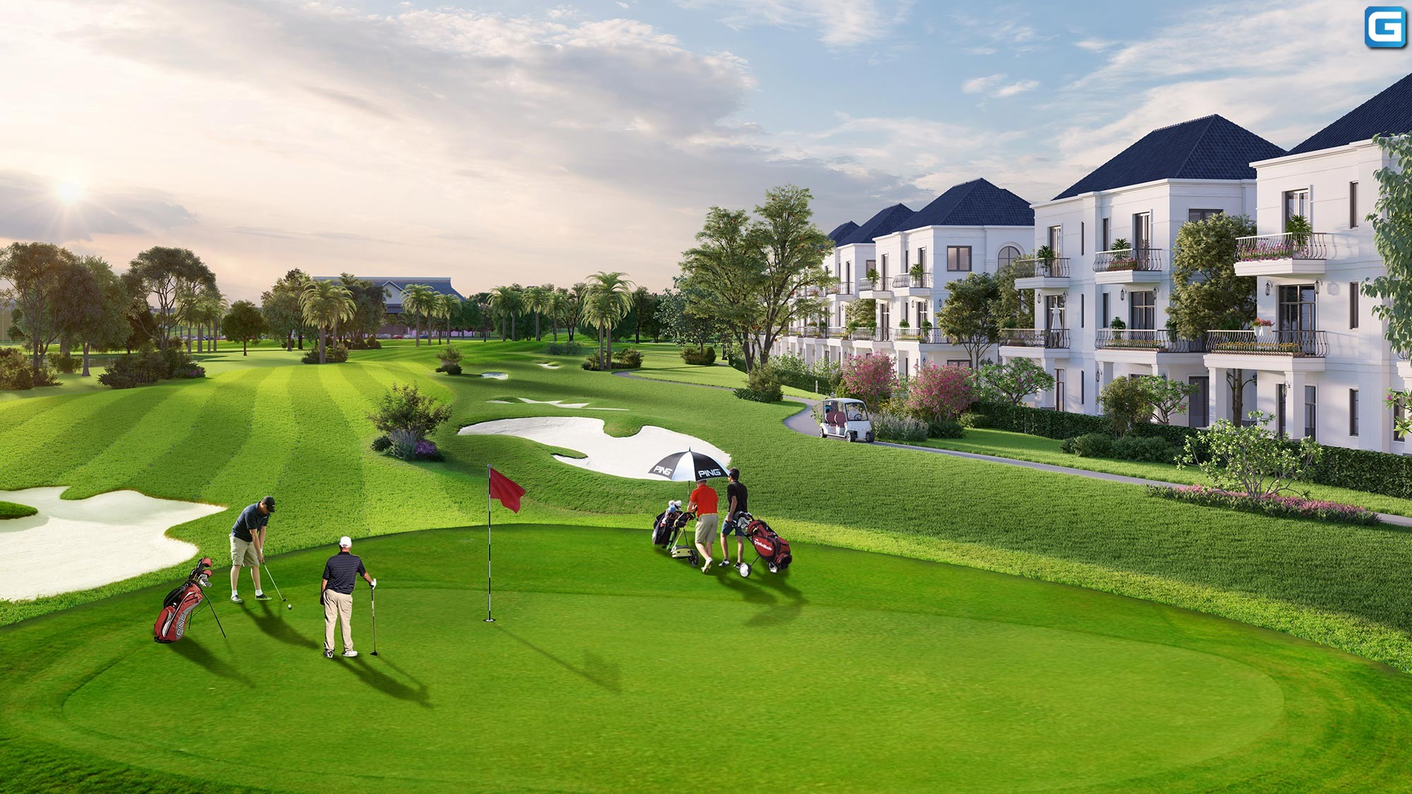 Dự án biệt thự West Lakes Golf & Villas Long An