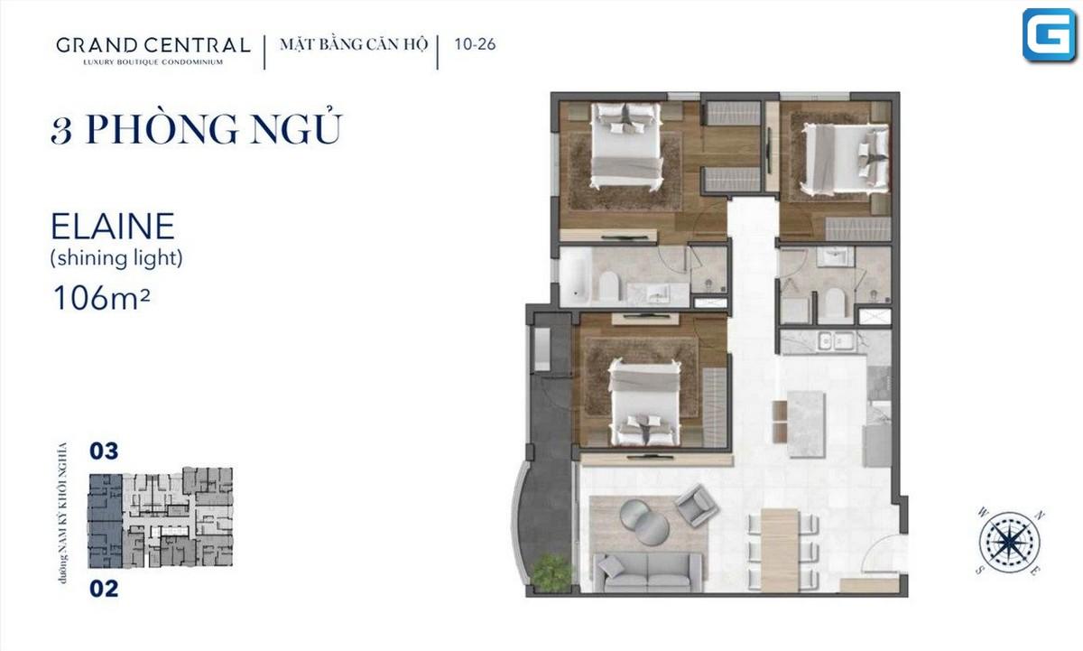 dự án căn hộ Grand Central Nam Kỳ Khởi Nghĩa Quận 3