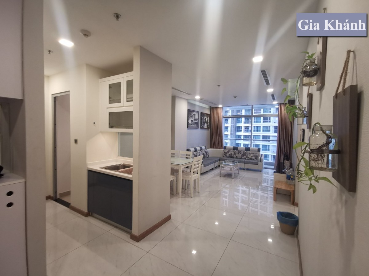 Cho thuê căn hộ 2PN Park 5 Vinhomes Central Park, Lầu Cao, đầy đủ nội thất