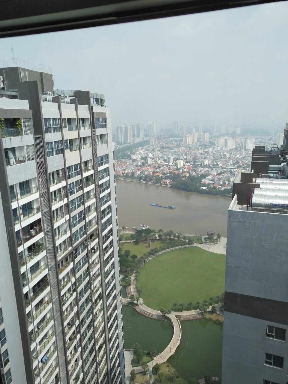 Cho thuê căn hộ 2PN Park 6 Vinhomes Central Park, View Sông, Lầu 47, nội thất đẹp
