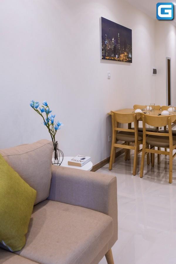 Cho thuê căn hộ L4 Officetel Vinhomes Central Park lầu vừa, Nội Thất Đẹp