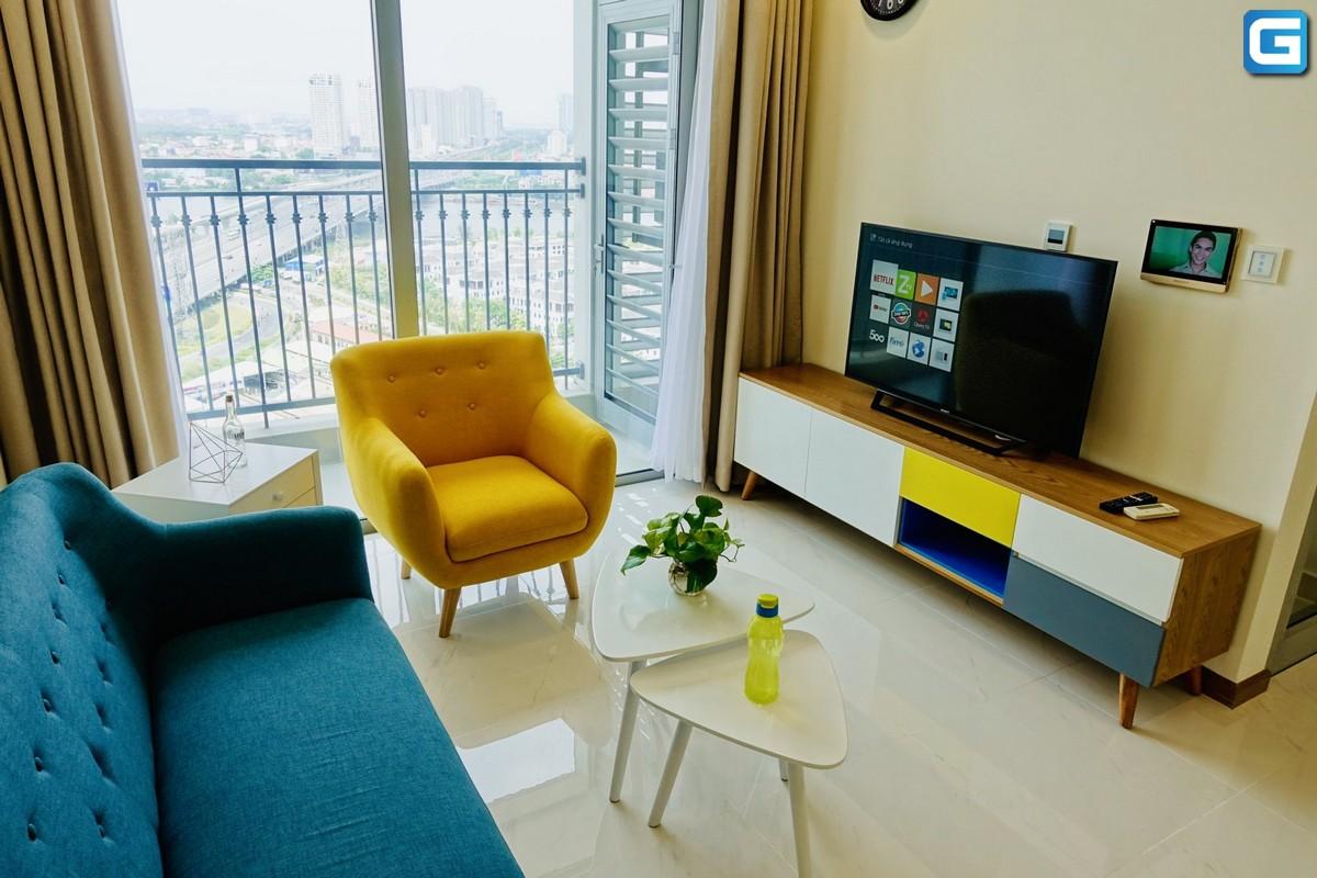 Căn hộ 2 PN Vinhomes Landmark 6 cho thuê nội thất lầu 19