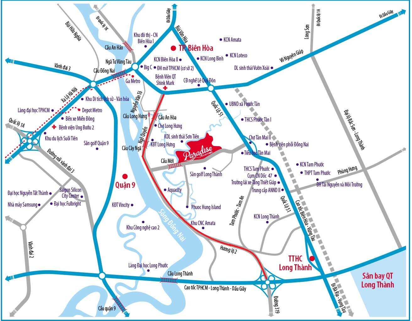 Đường Hương Lộ 2 Đồng Nai – Quy Hoạch và Tiến độ dự án 2020