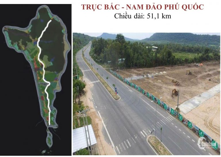 Đường trục Bắc – Nam Phú Quốc