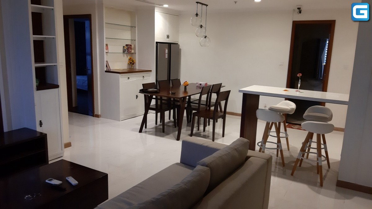 Cho thuê căn hộ Vinhomes Central Park 3PN, diện tích 117m2, đầy đủ nội thất, View City