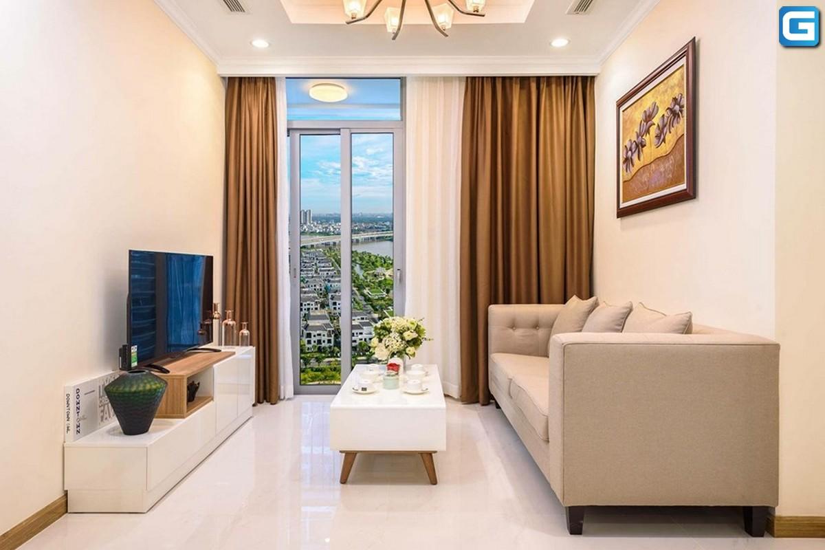 Cho thuê officetel Vinhomes Central Park 1PN, tháp Landmark 5, đầy đủ nội thất, view nội khu