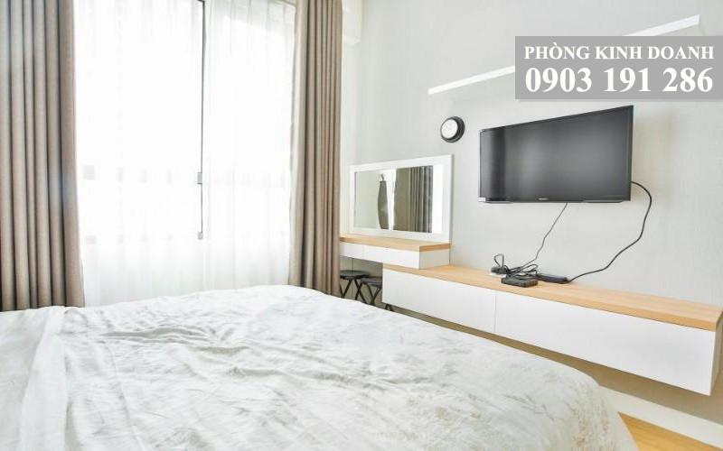 Cho thuê căn hộ Masteri Thảo Điền 2 phòng ngủ lầu 18 block T4 nội thất full 76 m2 800 USD/tháng