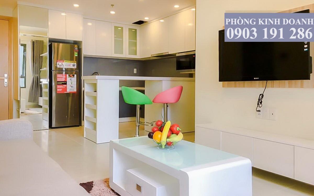 Căn hộ Masteri Thảo Điền cho thuê 1 phòng ngủ đầy đủ nội thất tầng 26 toà T4 view hồ bơi 650 USD