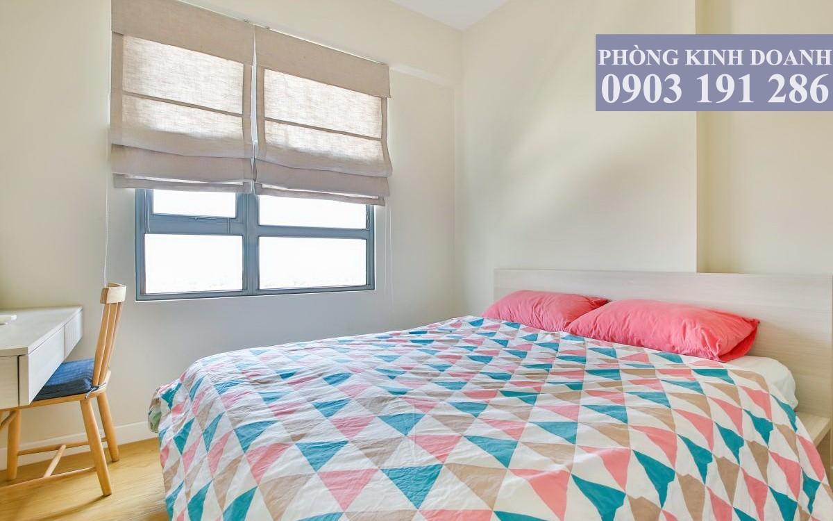 Cho thuê căn hộ Masteri Thảo Điền 2 phòng ngủ lầu 10 toà T3 có nội thất 70 m2 view sông Sài Gòn 800 USD/tháng