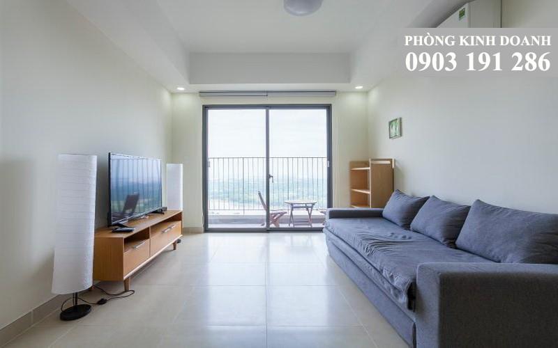 Cho thuê căn hộ Masteri Thảo Điền 2 phòng ngủ nội thất đẹp 70 m2 lầu 12 toà T4 view sông Sài Gòn 820 USD/tháng