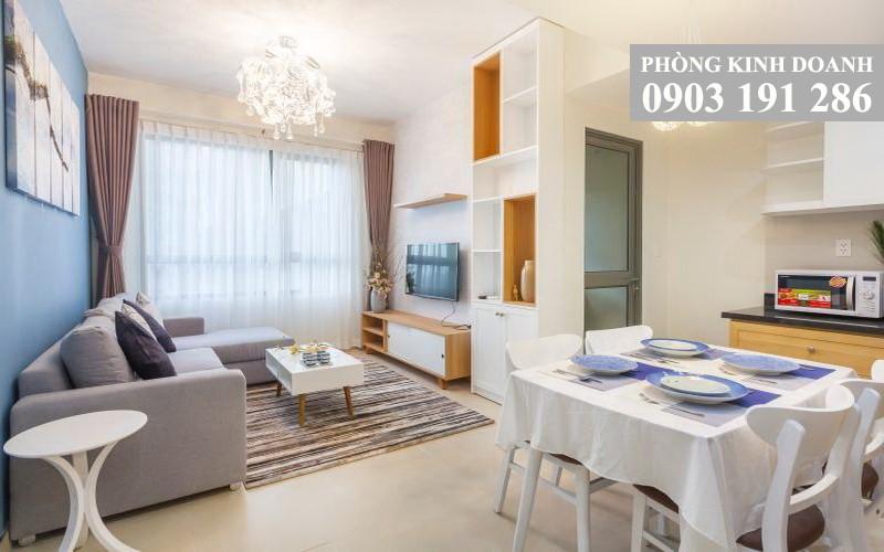 Căn hộ Masteri Thảo Điền cho thuê 1 phòng ngủ tầng 31 tháp T2 có nội thất 48 m2 650 USD/tháng
