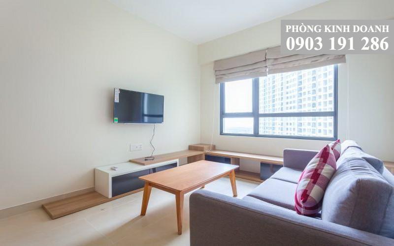 Masteri Thảo Điền cho thuê 1 phòng ngủ lầu 20 tháp T3 nội thất 49 m2 view hồ bơi 600 USD/tháng
