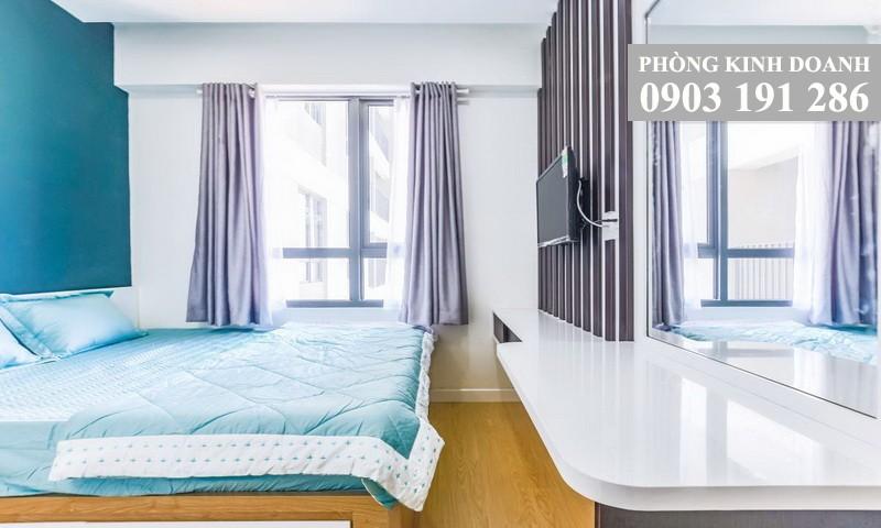 Căn hộ Masteri Thảo Điền cho thuê 2 phòng ngủ lầu 15 block T1 nội thất xịn view thành phố 800 USD/tháng