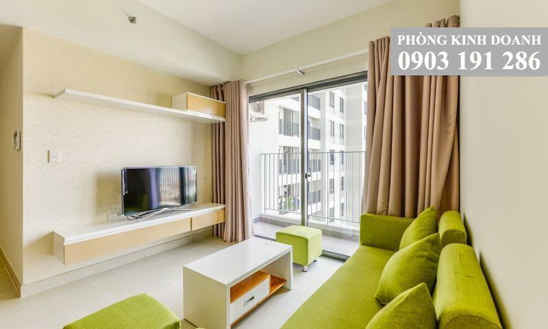 Căn hộ Masteri Thảo Điền cho thuê 2 phòng ngủ nội thất 64 m2 lầu 19 block T1 view thành phố 780 USD/tháng
