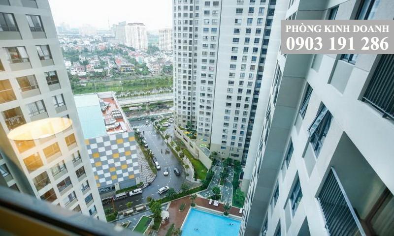 Masteri Thảo Điền cho thuê 1 phòng ngủ tầng 22 toà T2 đủ nội thất 48 m2 view hồ bơi 600 USD/tháng