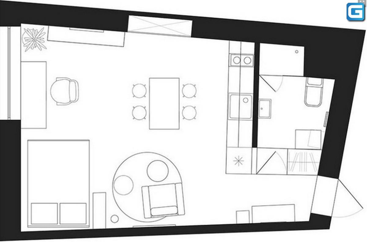 Thiết kế căn hộ Studio 30m2 đúng chuẩn sang trọng