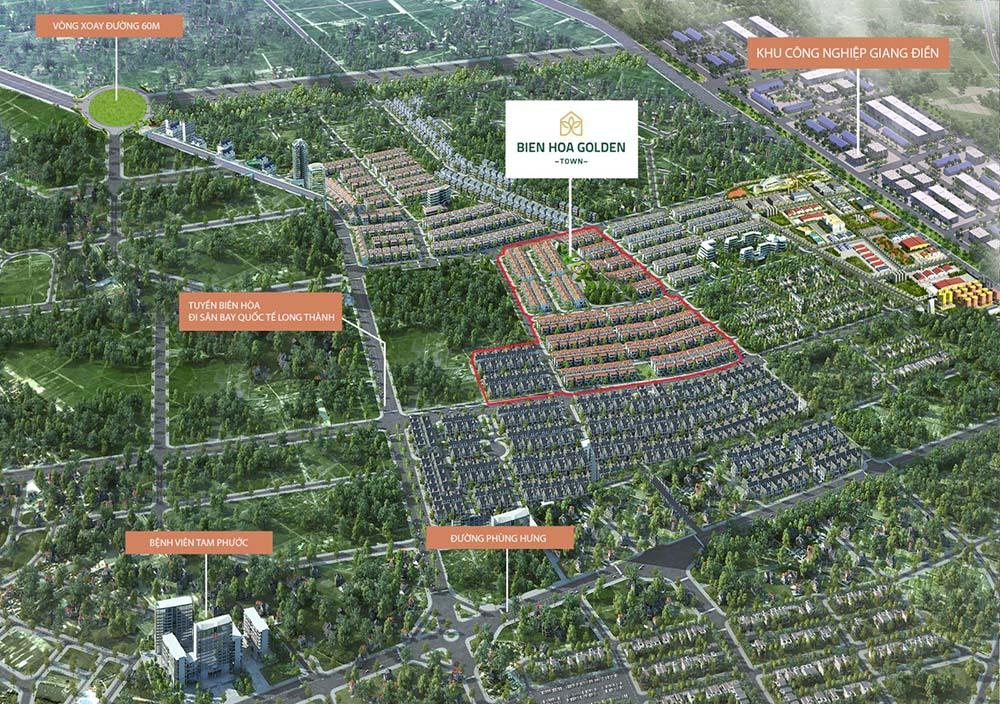 Biên Hòa Golden Town Nhà phố cao cấp dịch vụ đa dạng đẳng cấp nhất