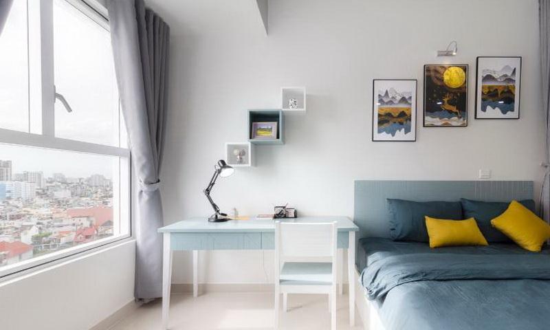 Cho thuê Sunrise Cityview 1 phòng ngủ lầu 12 block B nội thất cao cấp 450 USD/th