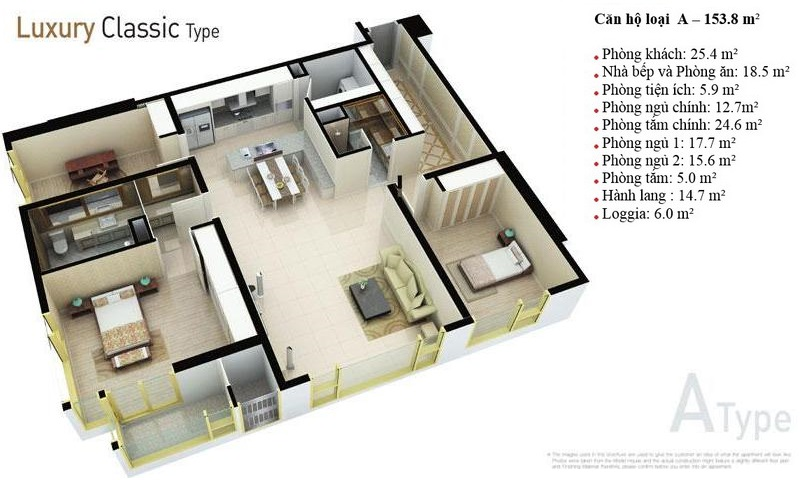 Cho thuê căn hộ Cantavil Hoàn Cầu view hồ 3 phòng ngủ tầng 8 nội thất cao cấp