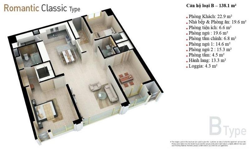Căn hộ Cantavil Hoàn Cầu Bình Thạnh cho thuê view hồ 3 phòng ngủ tầng 6 nội thất