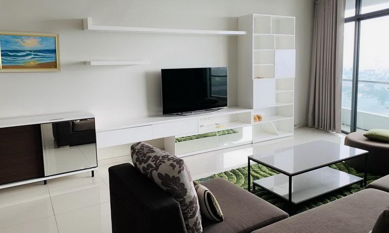 Căn hộ cho thuê City Garden tầng 14 block B1 có nội thất view đẹp 2 phòng ngủ