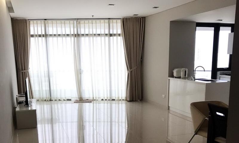 Căn hộ cho thuê City Garden lầu 25 toà B1 nhà đẹp view thoáng 2 phòng ngủ