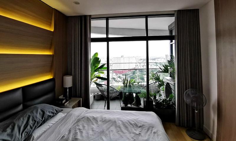 Cho thuê City Garden lầu 23 block P2 nội thất xịn view Văn Thánh 3 phòng ngủ