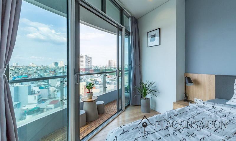 City Garden cho thuê 3 phòng ngủ tầng 8 block B1 full nội thất view quận 1
