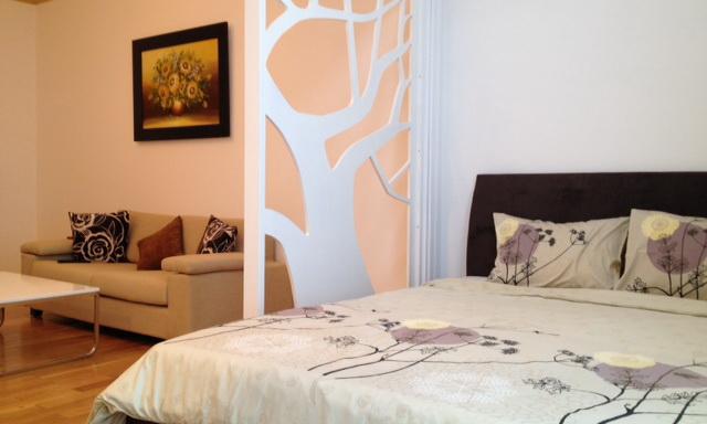 Cho thuê căn hộ The Manor officetel lầu 19 toà G nhà đẹp 1 phòng ngủ view quận 1
