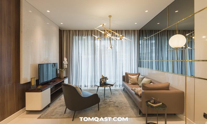 Căn hộ Sunwah Pearl cho thuê tầng 26 toà B3 đầy đủ nội thất 3 phòng ngủ view hồ bơi