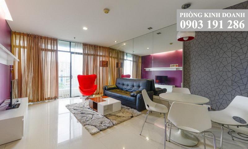 Cho thuê căn hộ City Garden lầu 6 tháp A nội thất đầy đủ view quận 1 1 phòng ngủ