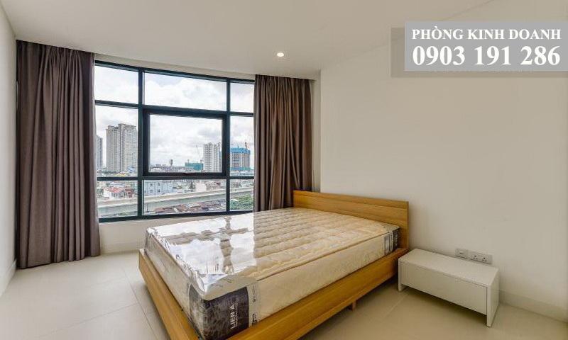 Căn hộ 2 phòng ngủ City Garden cho thuê tầng 8 toà C đầy đủ nội thất view quận 1