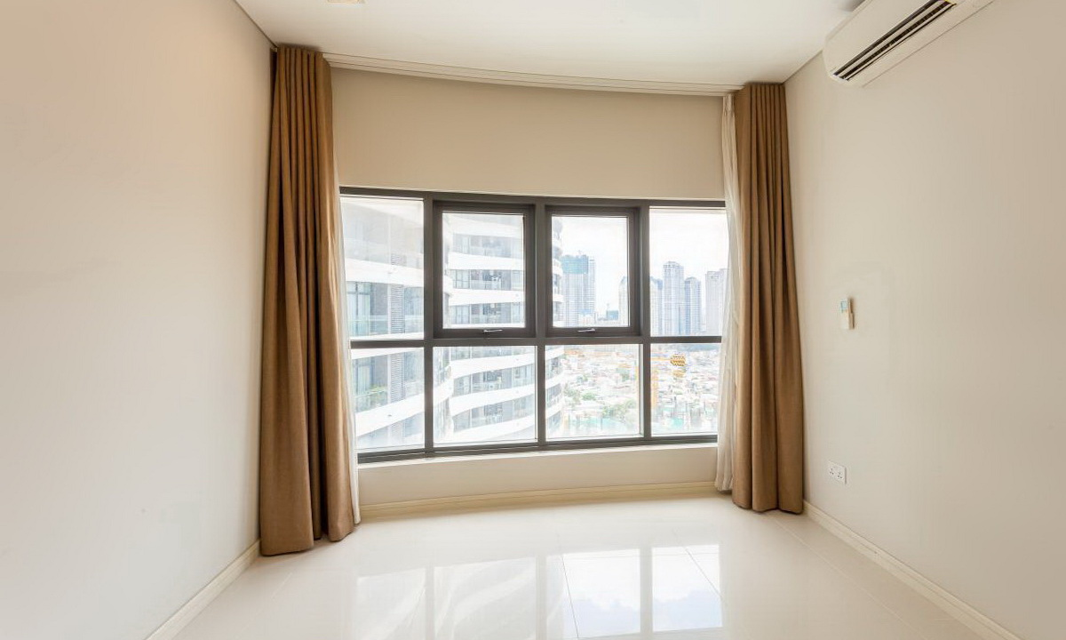 City Garden Bình Thạnh cho thuê tầng 18 toà A nhà trống view quận 1 3 phòng ngủ