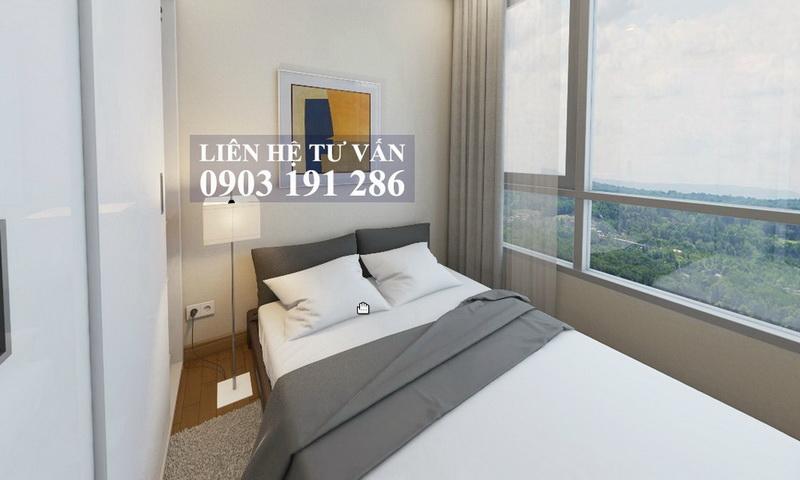 Cho thuê căn hộ Feliz En Vista lầu 4 block Cruz có nội thất 2 phòng ngủ đẹp