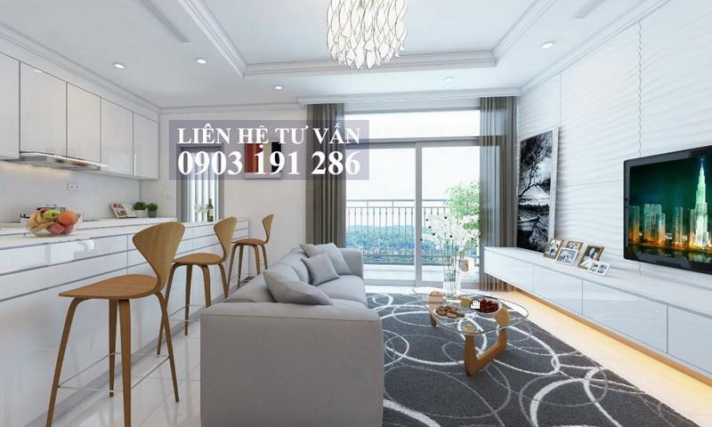 Căn hộ Feliz En Vista cho thuê tầng 6 toà Cruz có nội thất 3 phòng ngủ view hồ bơi