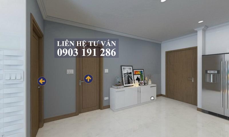 Cho thuê Feliz En Vista quận 2 tầng 23 tháp Cruz nội thất full 1 phòng ngủ thoáng
