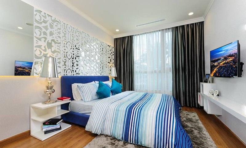Căn Feliz En Vista cho thuê lầu 12 tháp Cruz có nội thất 3 phòng ngủ view hồ bơi