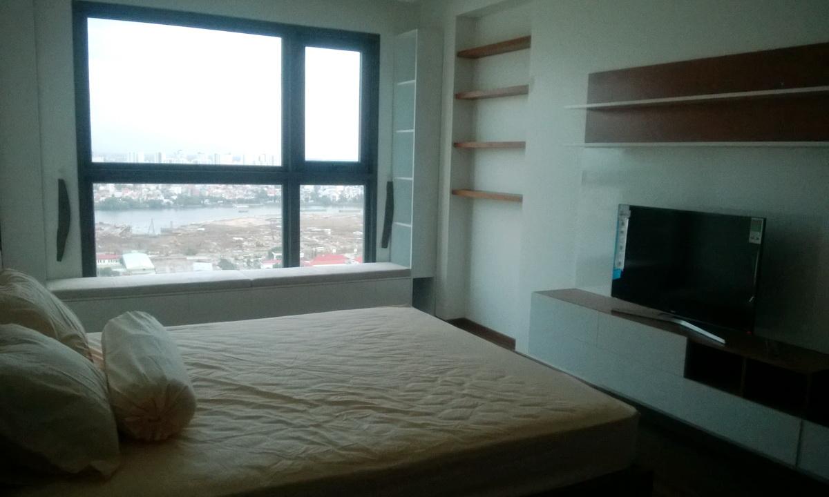 Cho thuê căn hộ Pearl Plaza 3 phòng ngủ view thành phố tầng 21 nội thất đẹp