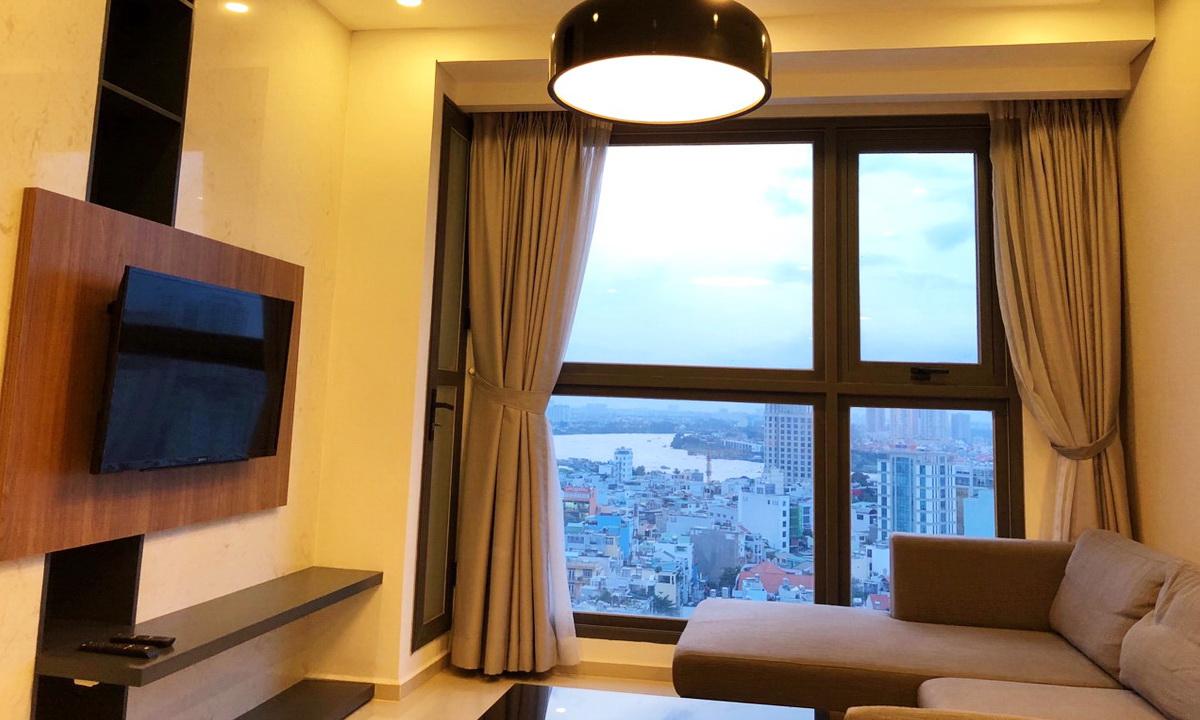 Cho thuê căn hộ Pearl Plaza Bình Thạnh 2 phòng ngủ view sông tầng 22 nhà đẹp